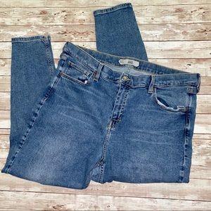 Topshop Jamie Distressed High Waisted Skinny Jean